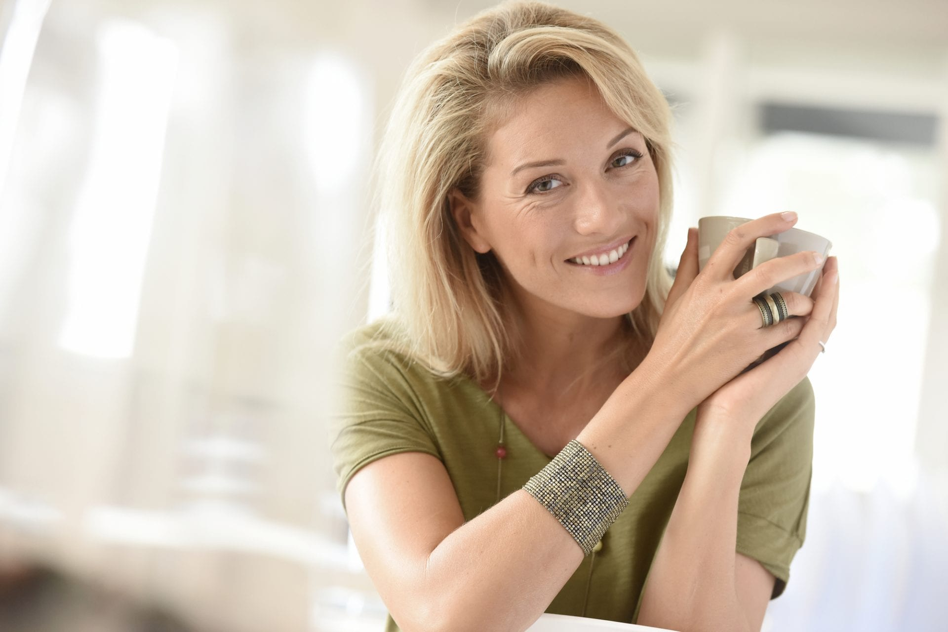 happy woman collagen